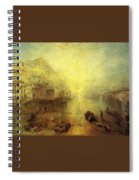 Turner Joseph Mallord William Ancient Italy Ovid Banished From Rome Joseph Mallord William Turner Spiral Notebook