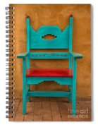 Turquoise And Red Chair Spiral Notebook