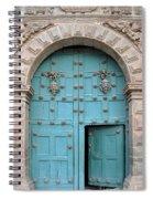 Turquoise Cusco Church Door Spiral Notebook
