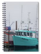 Turquoise Fishing Boat Spiral Notebook
