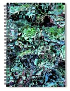 Turquoise Garden Of Glass Spiral Notebook