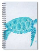 Turquoise Marine Turtle Spiral Notebook