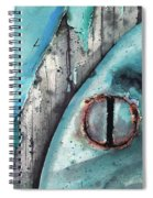 Turquoise Paint Spiral Notebook