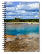 Turquoise Pool, Yellowstone Spiral Notebook