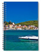 Turquoise Waterfront Of Rogoznica Tourist Destination Spiral Notebook