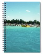 Turquoise Waters At The Torch Lake Sandbar Spiral Notebook