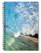 Turquoise Wave Tube Spiral Notebook