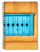 Turquoise Window Shutter Spiral Notebook