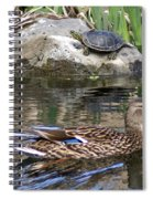 Turtle And Duck Spiral Notebook