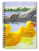 Turtle Log Spiral Notebook