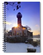 Turtle Rock Light House At Sunrise Spiral Notebook