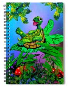 Turtle Trampoline Spiral Notebook