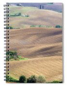 Tuscan Landscape With Plowed Fields Spiral Notebook
