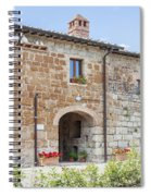 Tuscan Old Stone Building Spiral Notebook