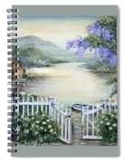 Tuscan Pond And Wisteria Spiral Notebook