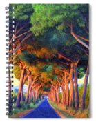 Tuscany Tree Tunnel Spiral Notebook