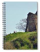 Tutbury Castle Ruins Spiral Notebook