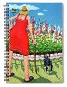 Tuxedo Cat - Edens Garden Spiral Notebook