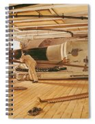 Twenty-seven Pound Cannon On A Battleship Spiral Notebook