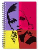 Twiggy Pop Art 1 Spiral Notebook