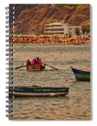 Twilight At The Beach, Miraflores, Peru Spiral Notebook