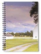 Twilight Barn - Winneconnie Spiral Notebook