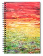 Twilight Bounds Softly Forth On The Wildflowers Spiral Notebook