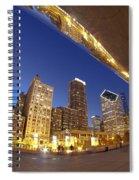 Twilight Chicago Skyline  Spiral Notebook