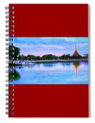 Twilight City Lake View Spiral Notebook