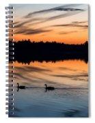 Twilight Lake Swim New Jersey Spiral Notebook