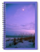 Twilight Moon Over Sand Dunes Spiral Notebook