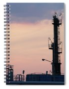 Twilight Over Petrochemical Plant Spiral Notebook