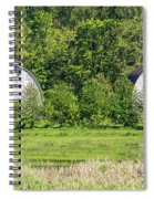 Twin Barns In Spring Spiral Notebook
