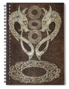 Twin Dragons Spiral Notebook
