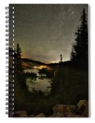Twin Lakes Night Panorama Spiral Notebook