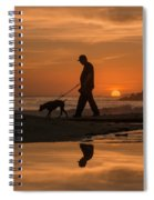 Twin Lakes Sunset Reflected Spiral Notebook
