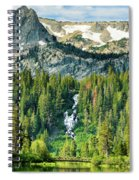 Twin Lakes Waterfall Spiral Notebook
