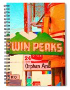 Twin Peaks Gay Bar In San Francisco . Painterly Style Spiral Notebook