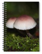 Twin Peaks - Pink And White Mushroom Duo Spiral Notebook