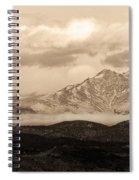 Twin Peaks Sepia Panorama Spiral Notebook