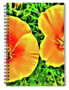 Twin Poppies Spiral Notebook