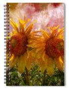 Twin Sunflowers Spiral Notebook