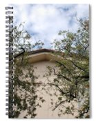 Twin Trees Framing Church Building Spiral Notebook