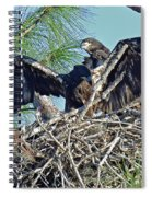 Twins Getting Ready  Spiral Notebook