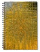 Twirl Art Yellow  Spiral Notebook