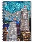 Los Angeles. Rhinestone Mosaic Beadwork Mix Spiral Notebook