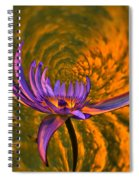 Twisted Waterlily Spiral Notebook