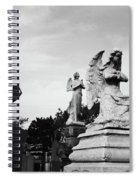 Two Angels Joseph, Jesus And A Bold Cross In A Cemetery Spiral Notebook