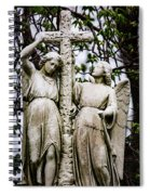 Two Angels With Cross Spiral Notebook