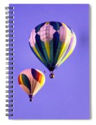 Two Balloons In The Clear Blue Sky  Spiral Notebook
